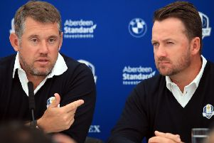 Vice-captains in 2018, Lee Westwood, left, and Graeme McDowell could be Ryder Cup players again this year. Picture: PA