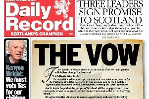 """The controversial """"vow"""" front page designed by Murray Foote, who has now been appointed as the SNP's media chief."""