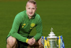 Celtic's Leigh Griffiths looks forward to the Scottish Cup tie against Clyde. Picture: Craig Williamson / SNS
