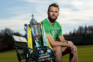 Christian Doidge says that moving to Hibs from Forest Green has given him a much better chance of playing international football. SNS.