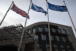 The EU flag flies outside the Scottish Parliament (Picture: AFP/Getty)