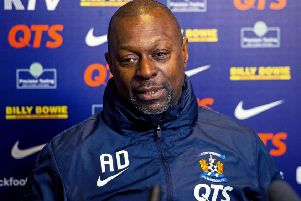 Kilmarnock manager Alex Dyer was forced to address the issue of racism among his own club's support. Picture: Ross MacDonald/SNS