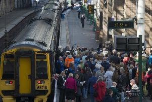 Trains are not able to leave Edinburgh Waverley on the East Coast line. Picture File