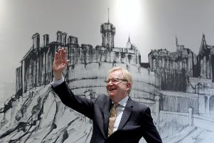 Jackson Carlaw celebrates following the announcement that he is the new leader of the Scottish Conservatives at the Radisson Blu Hotel, Edinburgh. Picture: PA
