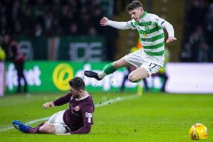 Ryan Christie scored in the midweek win over Hearts but the midfielder has slipped out of Neil Lennon's first XI. Picture: SNS Group