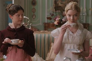 Mia Goth (left) as Harriet Smith and Anya Taylor-Joy as Emma Woodhouse in Autumn de Wilde's Emma PIC: Focus Features