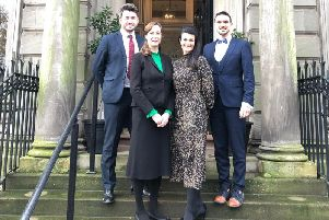 Left to right are Kris Buchanan, Judith Higson, Diana McLeish and managing director Nicholas Scullion. Picture: Contributed