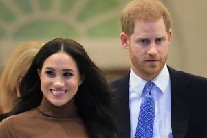 The Duke and Duchess of Sussex, Harry and Meghan, may not be allowed to use the term 'royal' in their new branding. Picture: Aaron Chown / PA Wire