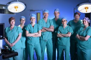 The surgical team, with Versius, at the Western General Hospital (Photo: NHS Lothian)