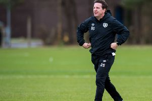Hearts head coach Daniel Stendel has told his players to banish their fear. Picture: Ross Parker / SNS