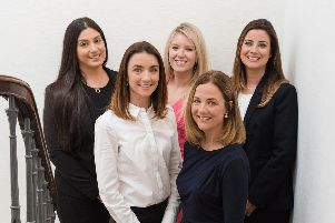 From left: Ergo Law's Sacha Carey, Emma Reid, Laura Clouston, Cathy Donald and Claire Henderson. Picture: Rachel Hein