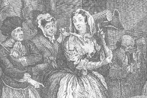 A depiction of a 'harlot' banging hemp in a House of Correction, by William Hogarth. Women made up the vast majority of those sent to the correctional institution  in Aberdeen, where cloth making was undertaken to promote values of hard work and discipline. PIC: Creative Commons.