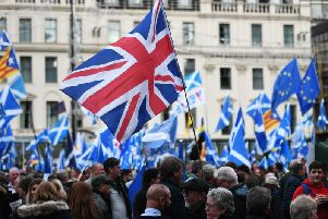Of those surveyed nearly half fear the divisions left by the independence and Brexit battles will last a generation and may never be healed. Picture: John Devlin