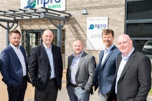 From left: Enpro subsea directors Craig McDonald, Ian Donald, Steve Robb, Neil Rogerson and Tom Bryce. Picture: Malcolm Duckworth