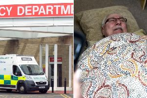 John McCallum's partner decided to take him home after another five hour wait in A&E at the Edinburgh Royal Infirmary.