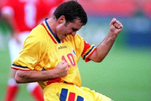 The great Gheorghe Hagi in his pomp. Picture: Jonathan Daniel/Allsport