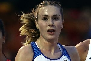 Mhairi MacLennan says she loves running in the rain. Picture: Bryn Lennon/Getty Images