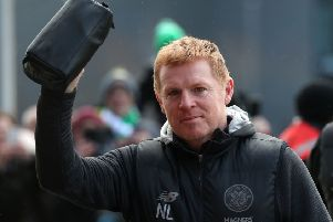 Celtic manager Neil Lennon arrives for the match against Kilmarnock. Picture: Andrew Milligan/PA Wire