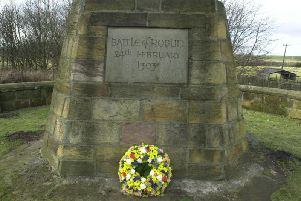 Memorial to those who fought in the 1303 Battle of Roslin, in which 35,000 men reportedly lost their lives. PIC: TSPL.
