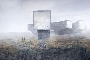 The original concept design for the St Kilda Centre at Uig, Isle of Lewis. It was designed by Skye-based architects Dualchas and Norwegian architect Reiulf Ramstad. PIC: Contributed.