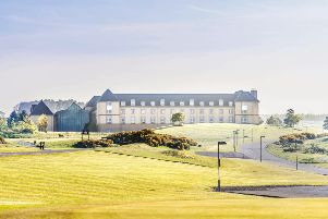 Exterior architectural photography of the golf course and hotel at Fairmont Hotel in St Andrews Chris Humphreys Photography