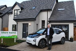 Springfield Properties chief executive Innes Smith outside a Motherwell show home. Picture: Contributed