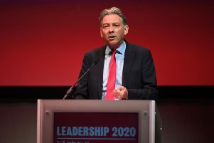 Scottish Labour leader Richard Leonard at a UK leadership hustings in Glasgow
