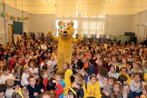 Pudsey makes a visit to Stornoway Primary and Nursery for Children in Need fundraising effort