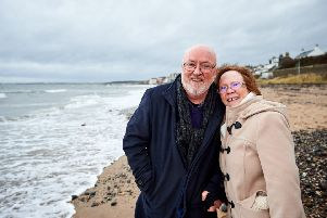 Celebrating every day... Jean and Arnott Wilson now take nothing for granted and enjoy every moment, from family celebrations to a brisk walk along the beach.