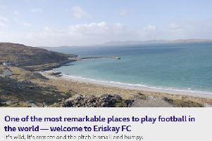 VIDEO - Eriskay FC - one of the most remarkable places in the world to play football
