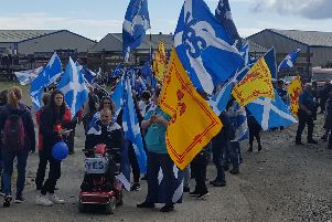 At this afternoon's Independence March
