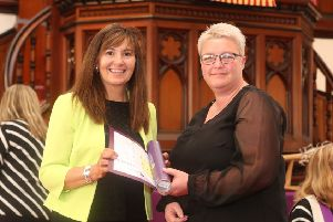Course leader Elspeth Robertson with Angela Louch.