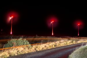 Lewis glows red for Scottish Poppy Appeal