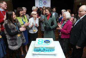Patron Princess Anne helped Citizens Advice Scotland celebrate its 80th year by spending three hours chatting to the many volunteers who form the bedrock of the charity's work.