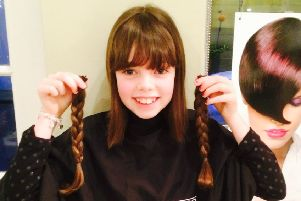 Kelso's Rebecca donates her long locks for charity
