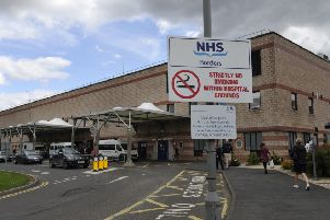 The Border General Hospital near Melrose in The Scottish Borders. No smoking sign.