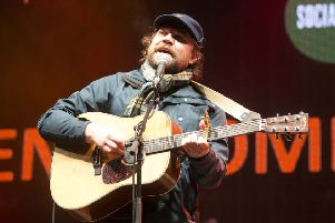 Frightened Rabbit's Scott Hutchison at last year's Sleep in the Park.