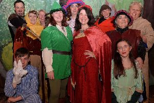 The cast of Heriot Players' production of Robin Hood and the Babes in the Wood, at the McFie Hall, Heriot, tomorrow and Saturday.