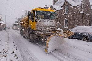 A snowplough helping keep the Beast from the East at bay in Lauder in February.