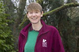 Laura Preston, red squirrels conservation officer.
