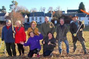In the Lilliesleaf field are, from left, David Nisbet, Marion Livingston, Carolyn Riddell-Carre, Harry Cockerill, Jenny Baldwin, Anna Craigen, Andrew Illius and Rob Hain.