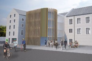 How the proposed Caerlee Mill mountain-biking innovation centre in Innerleithen would look.