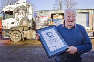 Dick Henderson from Ashkirk has been named the world's oldest HGV driver by the Guinness Book of Records.