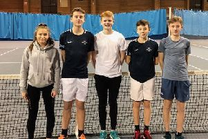 Tennis Borders 14 and under team (from left), Felicity Walls, Daniel Main, Alexander Hart and Fraser Rout.
