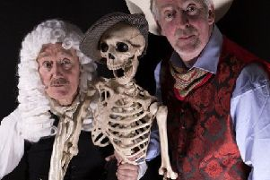 Acclaimed Scottish actors John Shedden and Finlay McLean (plus skeleton) perform a series of weird and wonderful sketches in, Get a Life, at Bowhill House, Selkirk on March 21.