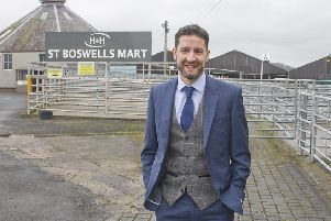 H&H Group CEO Richard Rankine at Newtown St Boswells mart.