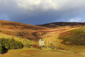 Kirkhope Tower in the Ettrick Valley, once derelict, but now converted to a family home.