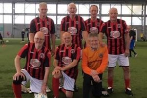 Relaxed pace - the Gala Fairydean Rovers walking footballers.