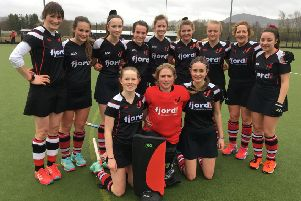 The Fjordhus Reivers 3s team which took on Boroughmuir.