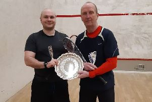 Plate finalists, Iain Gorman, left, and Pat Spence